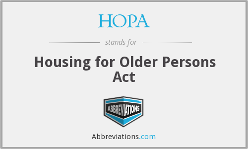 HOPA - Housing for Older Persons Act