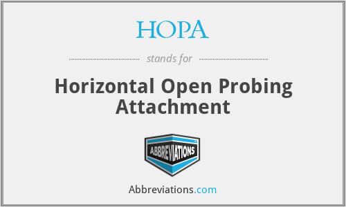 HOPA - Horizontal Open Probing Attachment