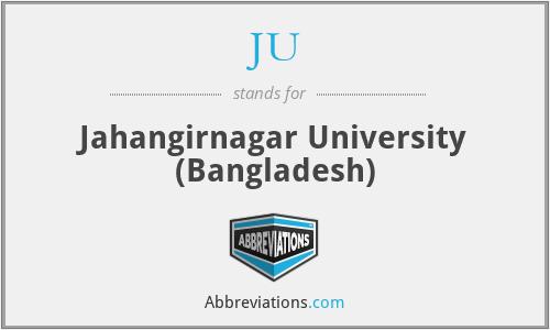 JU - Jahangirnagar University (Bangladesh)