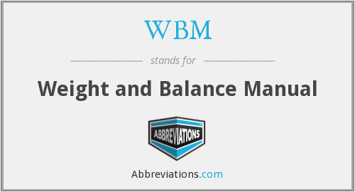 WBM - Weight and Balance Manual