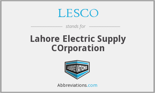 LESCO - Lahore Electric Supply COrporation