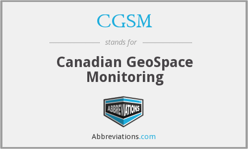 CGSM - Canadian GeoSpace Monitoring