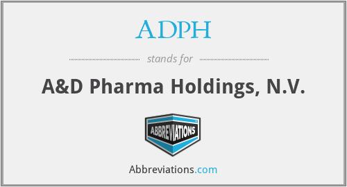 ADPH - A&D Pharma Holdings, N.V.