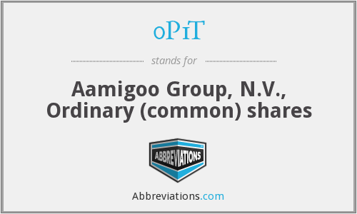 0P1T - Aamigoo Group, N.V., Ordinary (common) shares