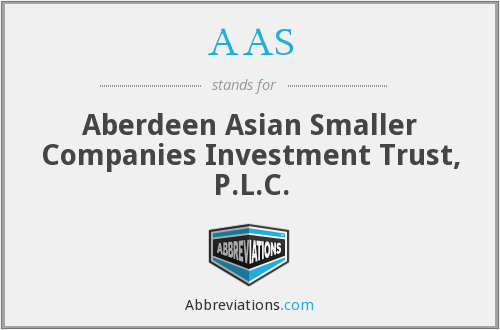 AAS - Aberdeen Asian Smaller Companies Investment Trust, P.L.C.