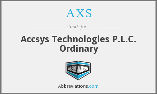 AXS - Accsys Technologies P.L.C. Ordinary