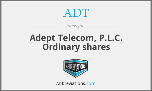 ADT - Adept Telecom, P.L.C. Ordinary shares
