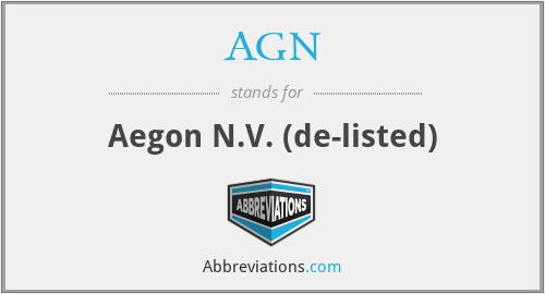 AGN - Aegon Nv