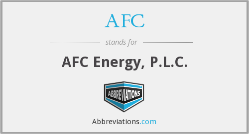 AFC - AFC Energy, P.L.C.