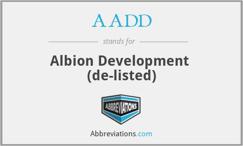 AADD - Albion. Dev D