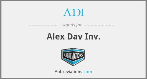 ADI - Alex Dav Inv.