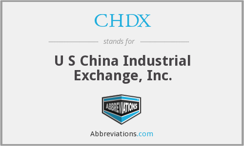 What does CHDX stand for?