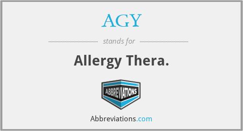 AGY - Allergy Thera.