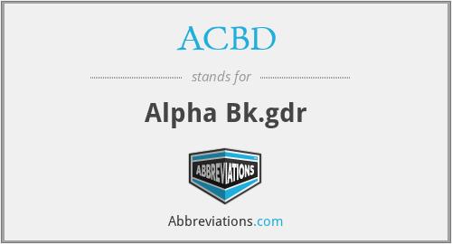 ACBD - Alpha Bk.gdr