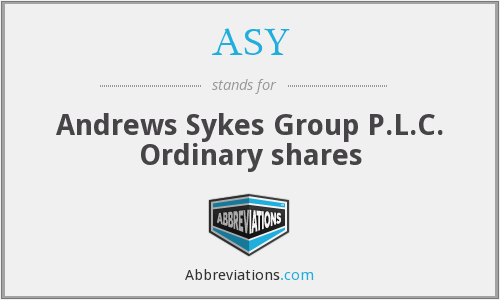 ASY - Andrews Sykes Group P.L.C. Ordinary shares