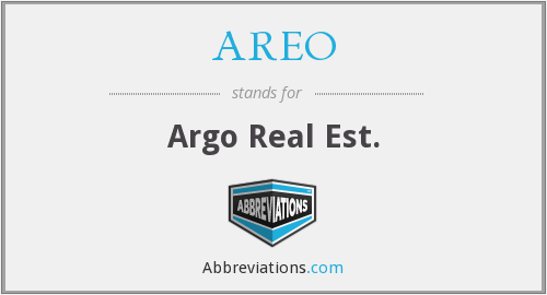 What does AREO stand for?