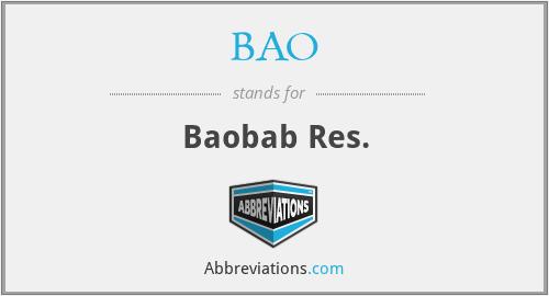 BAO - Baobab Res.
