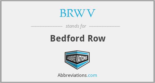 BRWV - Bedford Row