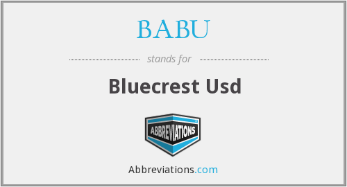 BABU - Bluecrest Usd