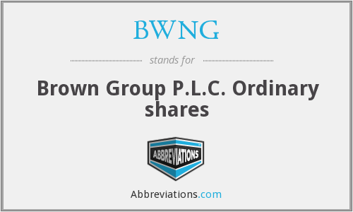 BWNG - Brown(n.) Grp.