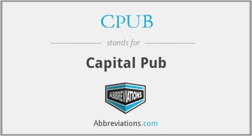 CPUB - Capital Pub
