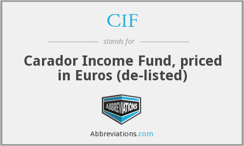 CIF - Carador Income Fund, priced in Euros (de-listed)