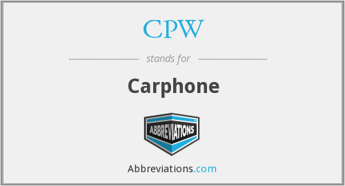 CPW - Carphone
