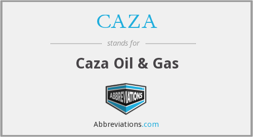 CAZA - Caza Oil & Gas