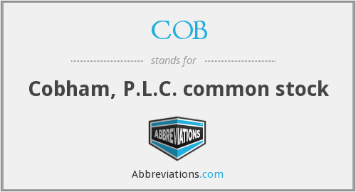 COB - Cobham, P.L.C. common stock