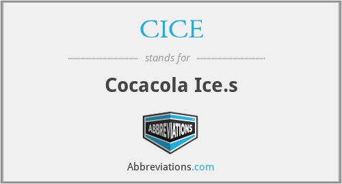 CICE - Cocacola Ice.s