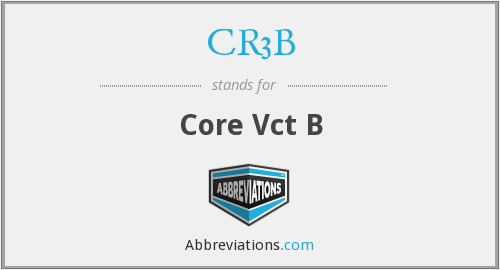 What does CR3B stand for?