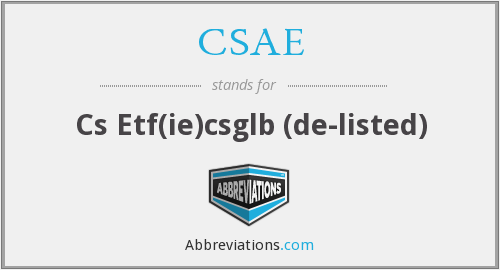 CSAE - Cs Etf(ie)csglb