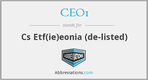 What does CEO1 stand for?