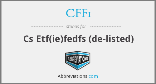 What does CFF1 stand for?