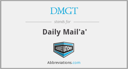 What does DMGT stand for?