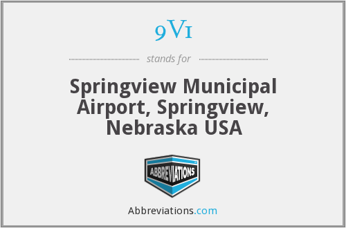 9V1 - Springview Municipal Airport, Springview, Nebraska USA