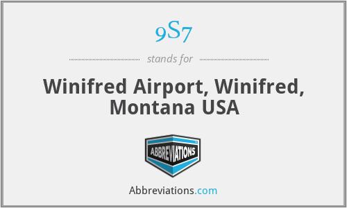 9S7 - Winifred Airport, Winifred, Montana USA
