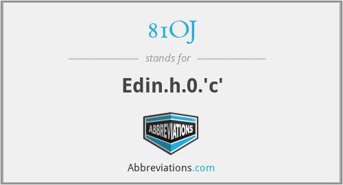 81OJ - Edin.h.0.'c'