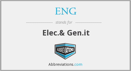 ENG - Elec.& Gen.it