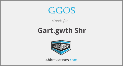 What does GGOS stand for?