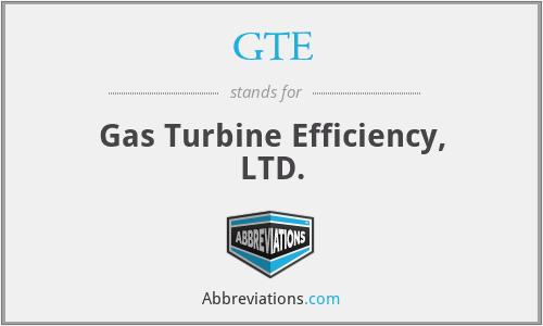 GTE - Gas Turbine Efficiency, LTD.