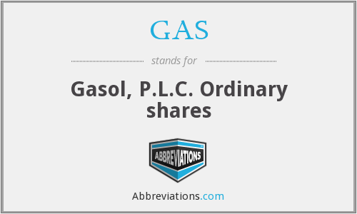 GAS - Gasol, P.L.C. Ordinary shares