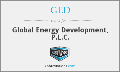 GED - Global Energy Development, P.L.C.