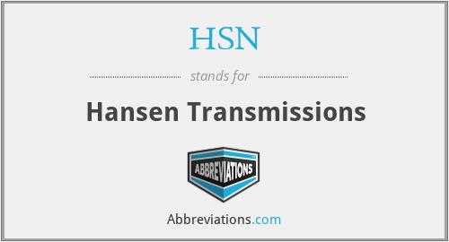 HSN - Hansen Transmissions