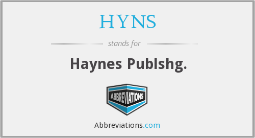 HYNS - Haynes Publshg.