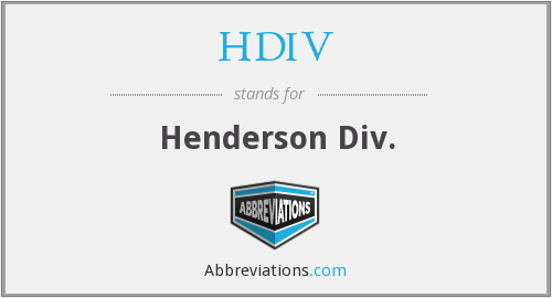 What does HDIV stand for?