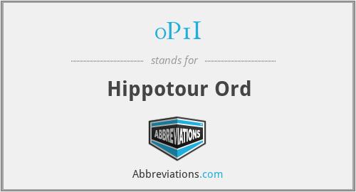 0P1I - Hippotour Ord