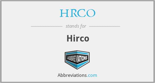 HRCO - Hirco