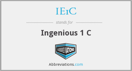 What does IE1C stand for?