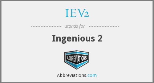 What does IEV2 stand for?
